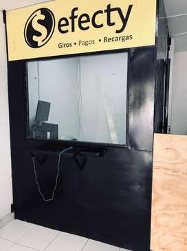 Cabina de seguridad para punto de recaudo