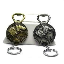 Llavero Destapador Game Of Thrones Emblema Casa Stark