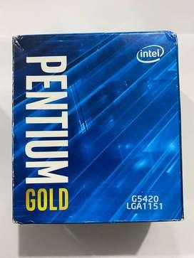 Intel Pentium Gold G5420 - Procesador de sobre  mesa (2 núcleos, 3,8 GHz, LGA1151, serie 300, 54 W)
