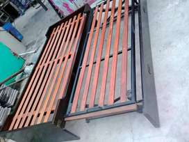 dos camas 1 plaza 1 con rueditas