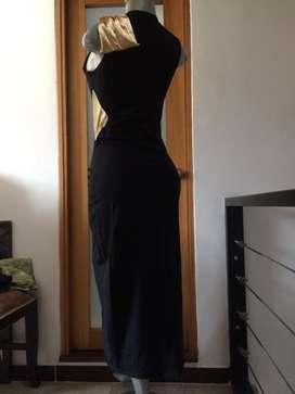 Vestido de gala talla unica negro