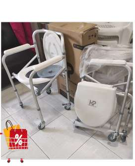 Sillas sanitarias o de baño, silla de rueda (aluminio)