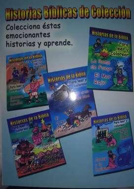 Venta de cinco cartillas infantiles para colorear y leer