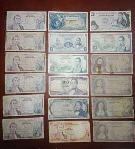 Subasta o venta de colección de billetes antiguos