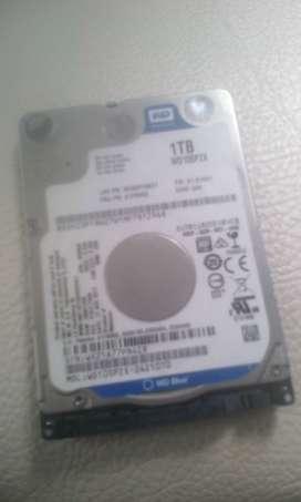 vendo disco duro de portatil de 1 tera