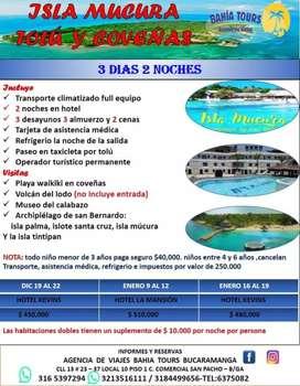 TOUR TOLU COVEÑAS SALIDAS DICIEMBRE Y ENERO 2020
