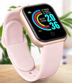 Dama Rosa Smartwatch reloj Inteligente fitnes band, Notificaciones de Whatsaap regalo de amor y amistad podometro