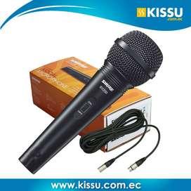Microfono multiuso Shure Karaoke SV-200 negro alambrico garantia 1 año