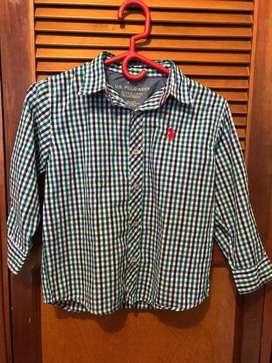 camisa original Marca Polo ASSN talla 5/6 - usado