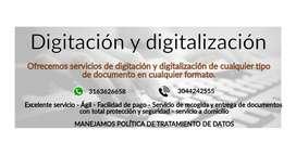 Digitación y digitalización