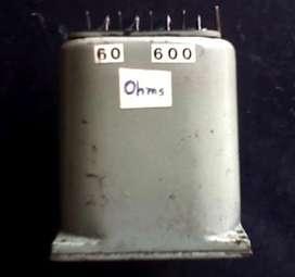 TRANSFORMADOR ADAPTADOR DE IMPEDANCIAS 60 A 600 OHMS ZR 14017/A . AUDIOMAX