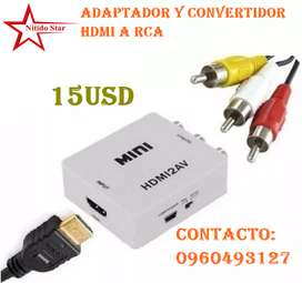 Adaptador HDMI a RCA a 15usd
