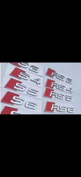Emblema audi S3 S4 S5 S6 S7 RS3 RS5 RS6 RS7
