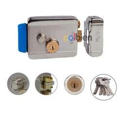 Cerradura Electrica Th Boton De Apertura Incorporado Universal para Puertas Izquierda O Derecha