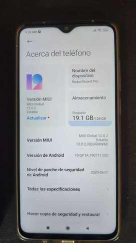 Xiaomi note 8 pro como nuevo, caja y garantia
