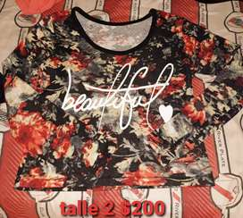 Vendo camiseta beatiful mujer t 2