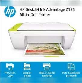 Impresora Hp DeskJet Ink Advantage 2135 PRINT SCAN COPY + cable de USB