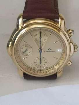 Excelente reloj cronografo lorenz Valjoux 7760 a cuerda