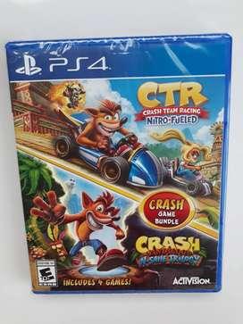 Crash Ctr + Crash Bandicoot Juego Ps4 Nuevo Y Sellado