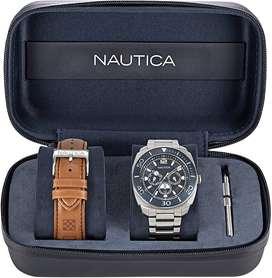 Reloj Náutica Napbhs905 Set Doble Pulso Formal Japonés