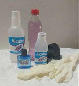 ALCOHOL DE 350ml  y 120 ml