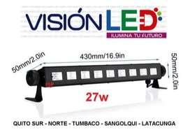 Lampara Led Uv 27w 36w 54w Luz Negra Potente Discoteca Fiest