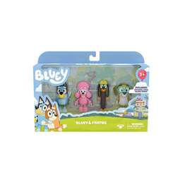 Bluey & Friends Action Figure 4-Pack