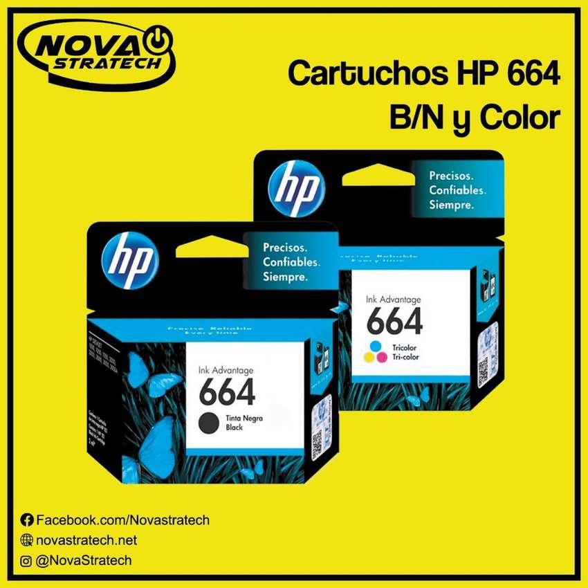 CARTUCHOS HP 664 NEGRO/COLOR ORIGINALES NUEVOS DE PAQUETE SELLADOS 0