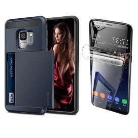 Carcasa Samsung Galaxy S9 Porta Tarjeta  Protector Pantalla