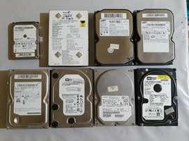 Discos Rígidos Sata/ide 500/320/80/20 Gb