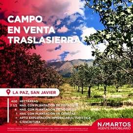 Campo 400 hectáreas en La Paz, Traslasierra c/ Escritura