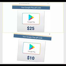 2 Gift card play store