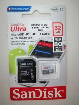 Micro Sd  32gb Sandisk Ultra Sdhc Y Uhs