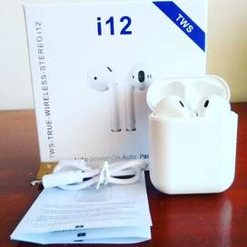 Audífonos Bluetooth I12 Tws Estéreo Táciles