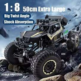 Carro monster grande 4x4 offroad todoterreno Control Remoto 100m 50cm version actualizada suspension independiente 4wd