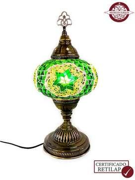 Lámpara turca de mesa en torre #3