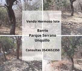 Vendo lote de 500 m, Parque Serrano Unquillo