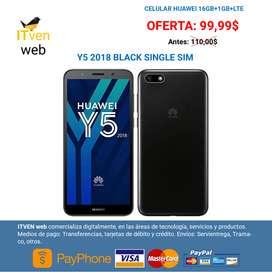 Celular Huawei Y5 2018 Negro 16gb Nuevo 1 Año Garantia Oferta