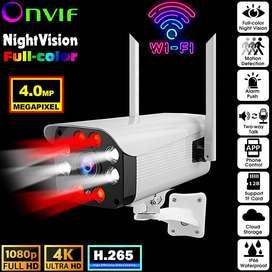 Camara De Seguridad Wifi 4mp 4k Ultra Hd Ip Bullet Rj-45