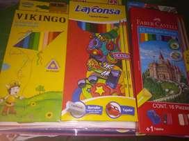 Colores artesco , layconza , vikingo , faber castel x12
