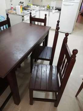 Juego de comedor con 6 sillas