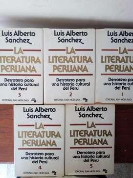 5 tomos Literatura Peruana de Luis Alberto Sánchez