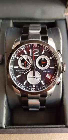 Reloj Certina 1888 DS Rookie, Edición Limitada Colección, Swiss Time Maker, Luna de Zafiro, Chronograph Sumergible 100M.