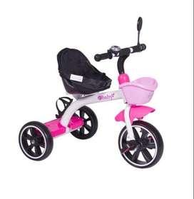 Triciclo ebaby con cinturón de seguridad