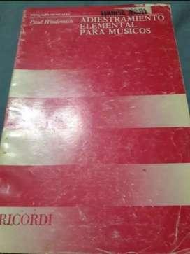 Libro Adiestramiento elemental para músicos. Paul Hindemith