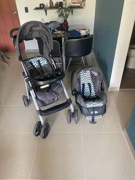 Coche y silla de carro bebé