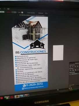 Rs contrucciones refacciones pintura colocaciones herreria contrucciones d todo tipo mantenimiento