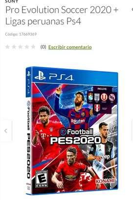 PES2020 PS4 - INCLUYE EQUIPOS PERUANOS