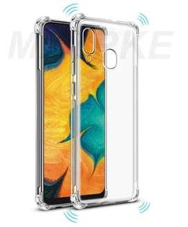 Estuche Samsung Galaxy A20 A30 M10S Antigolpes Esquinas Transparente