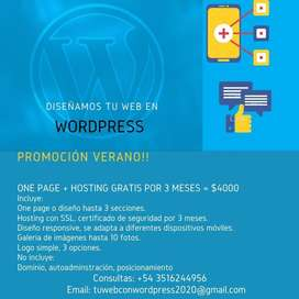 Diseño pagina web en Wordpress